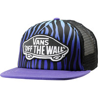 Vans Blue &amp; Purple Zebra Print Trucker Hat