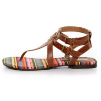 Soda Tam Tan T & Ankle Strap Thong Sandals - $19.00