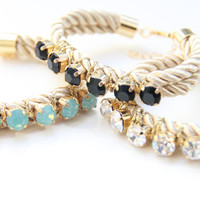 Love Rocks rhinestone Friendship Bracelet  24k gold by Brinkle