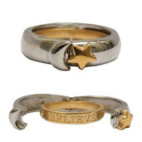 "Two-Tone Moon, Star & ""Believe"" Ring on HauteLook"