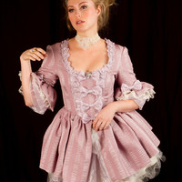 purplely pink mini Marie Antoinette rococo Victorian inspired dress with tutu