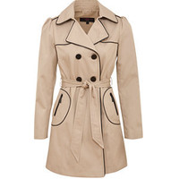 Stone Pipped Trench Coat
