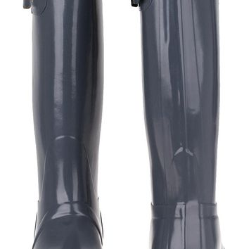 "Hunter ""Original Tall"" High Gloss Rain Boots in Graphite Grey"