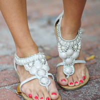 Rock Your World Sandals: Light Grey | Hope&#x27;s