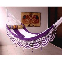 Amazon.com: Nicamaka Couples Hammocks - Purple/White 5 Stripe: Patio, Lawn & Garden