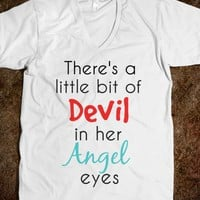 ANGLEL EYES Vneck Tshirt - AV's Boutique