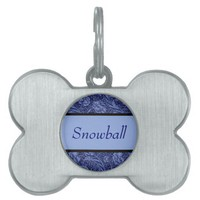 Floral and Ribbon in Blue from Zazzle.com