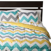 Room Essentials Chevron Comforter - White
