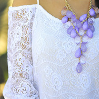 Teardrops On My Guitar Necklace: Purple | Hope&#x27;s