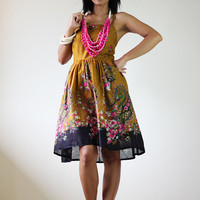Short Summer Dress - Paisley smock dress
