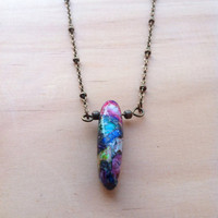 Rainbow Variscite Necklace