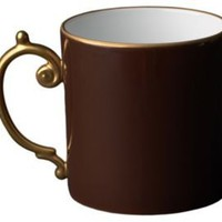 One Kings Lane - L'OBJET - Aegean 24kt Gold Mug, Choc.