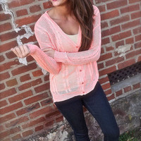 Neon Coral Cardi | The Rage