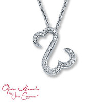 Diamond Necklace 1/8 ct tw Round-Cut  Sterling Silver