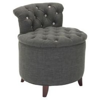 One Kings Lane - Safavieh - Valentine Tufted Vanity Stool