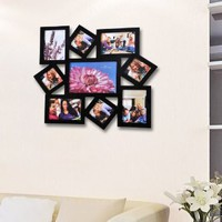 Amazon.com: ADECO 12AD009 9-Opening Wooden Wall Hanging Collage Photo Picture Frames - Holds 3x3 3.5x5 5x7 Inch Photos,Home Decor Wall Art,Great Gift: Home & Kitchen