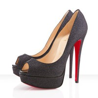 Christian Louboutin Lady Peep 150mm Black Outlet - $159