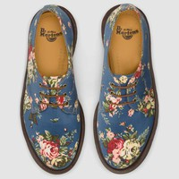 Dr Martens 1461 Pw Shoe INDIGO DENIM VICTORIAN FLOWERS - Doc Martens Boots and Shoes