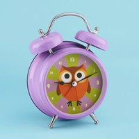 Purple Owl Alarm Clock