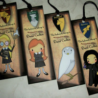 HARRY POTTER Set of 4 Bookmarks Personalized by PaintedByRenee