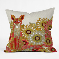 Sharon Turner Garden Fox Throw Pillow - Indoor /