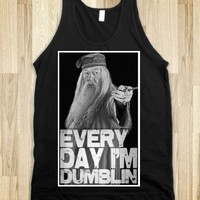 Every Day Im Dumblin-Unisex Black Tank