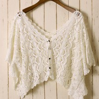 White Eyelash Crochet Top