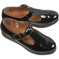 MOD Black Patent T-Bar Shoes