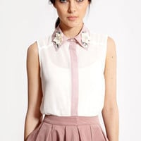 Boutique Nicola Contrast Collar Shirt