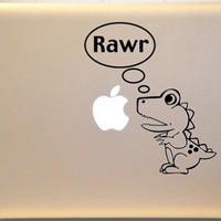 Dinosaur Macbook Decal Vinyl Sticker for Mac Laptop
