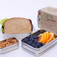 Amazon.com: Stainless Steel ECOlunchbox Three-in-One (Bento Style Lunchbox): Home & Kitchen