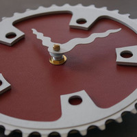 bicycle clock - oxblood red II