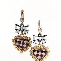 ideeli | BETSEY JOHNSON Bow and Heart Drop Earrings
