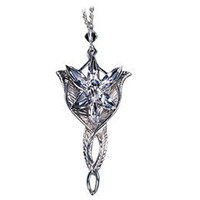 The Lord of the Rings Sterling Silver Arwen Evenstar Pendant: WBshop.com - 
