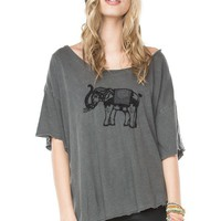 Angie Elephant Embroidery Top