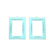 aqua picture frame set, shabby chic, upcycled frame, frames, ornate, wall decor, turquoise, pastels, spring, home decor