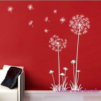 DandelionVinyl Wall Decal Sticker Nature Design by annaandnana