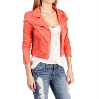 Coral Studded Motto Jacket