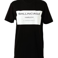 Browns fashion & designer clothes & clothing | CONFLICT OF INTEREST | 'Ballinciaga' Motif Cotton T-Shirt