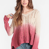 Nameless Face Dip Dye Jumper by Somedays Lovin - $80.00 : ThreadSence, Women&#x27;s Indie &amp; Bohemian Clothing, Dresses, &amp; Accessories