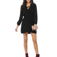 Long Sleeve Wrap Dress | Sexy Clothes Womens Sexy Dresses Sexy Clubwear Sexy Swimwear | Flirt Catalog