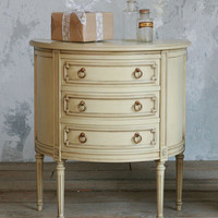 Vintage Demi Lume Commode in Cream Finish - $895 - The Bella Cottage