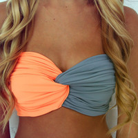 Spandex Bandeau -- Neon Orange