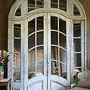 Huge Vintage Arched Art Deco Nouveau Mirrored Door