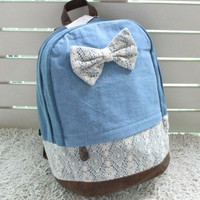 new authentic lace handbag backpack schoolbag