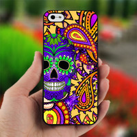Day of The Dead - Sugar Skull Paisl - Photo on Hard Cover For iPhone 5