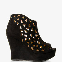 Cutout Wedge Booties | FOREVER21 - 2028031255