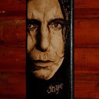 Harry Potter art  Severus Snape woodburned home by BaconFactory
