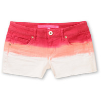 Tinsel Town Pink Dip Dye Cut Off Denim Shorts