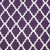 Homespun  Moroccan Trellis Purple Rug | Contemporary Rugs